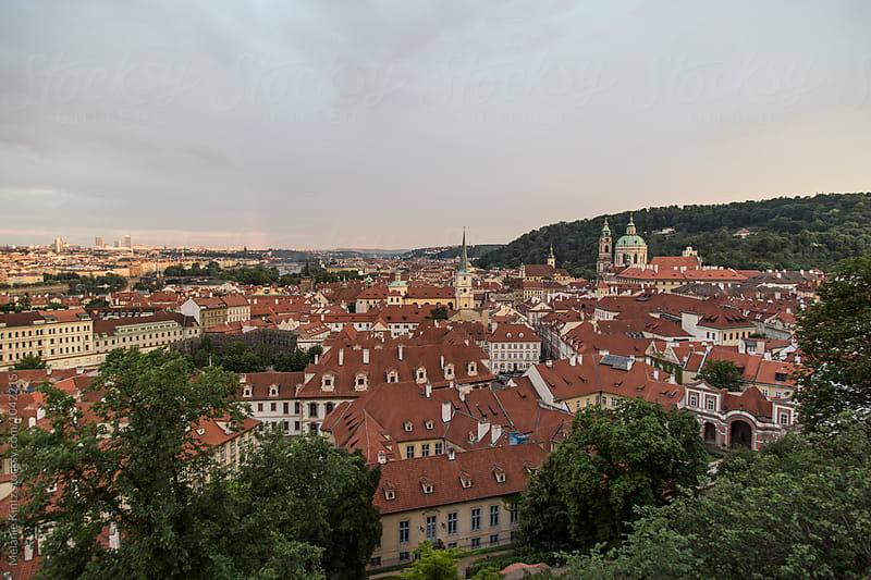 Prague's Malá Strana as seen from the castle hill by Melanie Kintz for Stocksy United