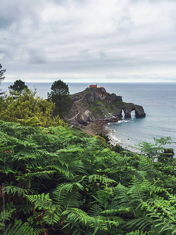 View of the Hermitage of San Juan de Gaztelugatxe by Luca Pierro for Stocksy United