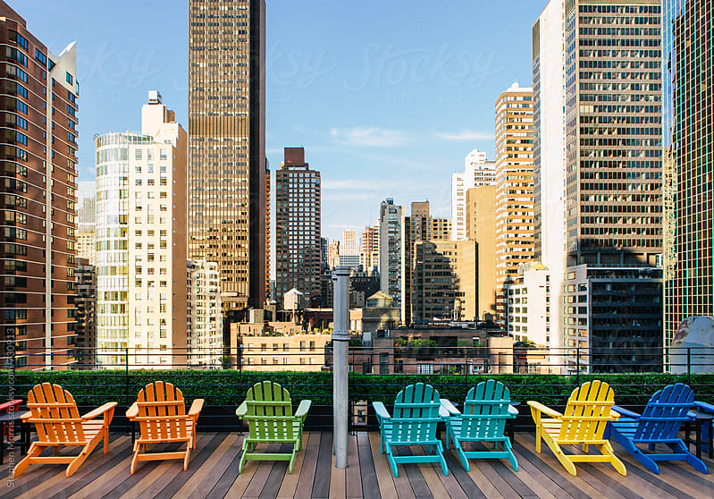 New York City Rooftop View by Stephen Morris for Stocksy United