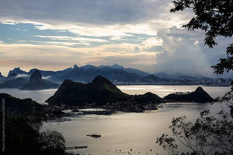 Amazing view of Rio de Janeiro, before a Thunderstorm. Brazil.