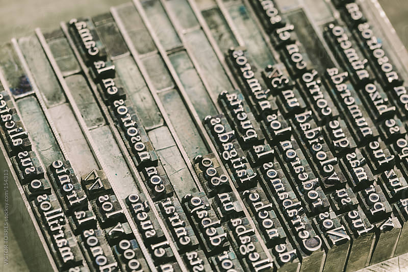 Lead Press Types by VICTOR TORRES for Stocksy United