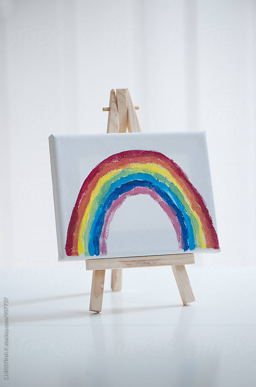 A rainbow painting by Christina Kilgour for Stocksy United