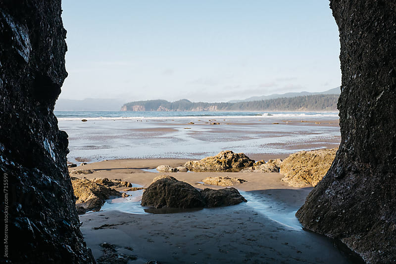 interesting landscape and rock formations on west coast of america by Jesse Morrow for Stocksy United
