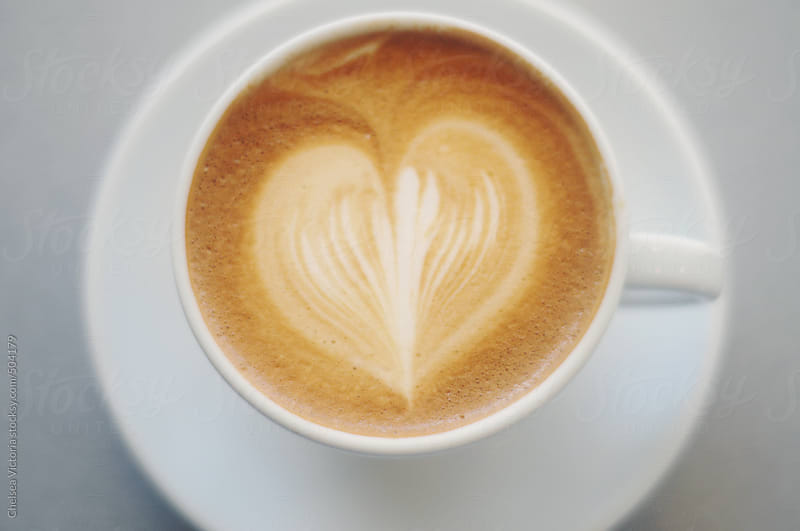 Latte with heart shape by Chelsea Victoria for Stocksy United