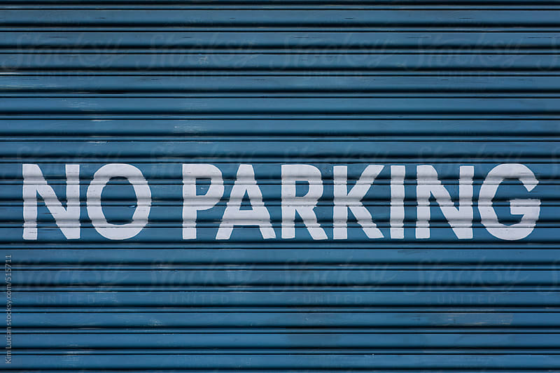 No Parking Sign by Kim Lucian for Stocksy United