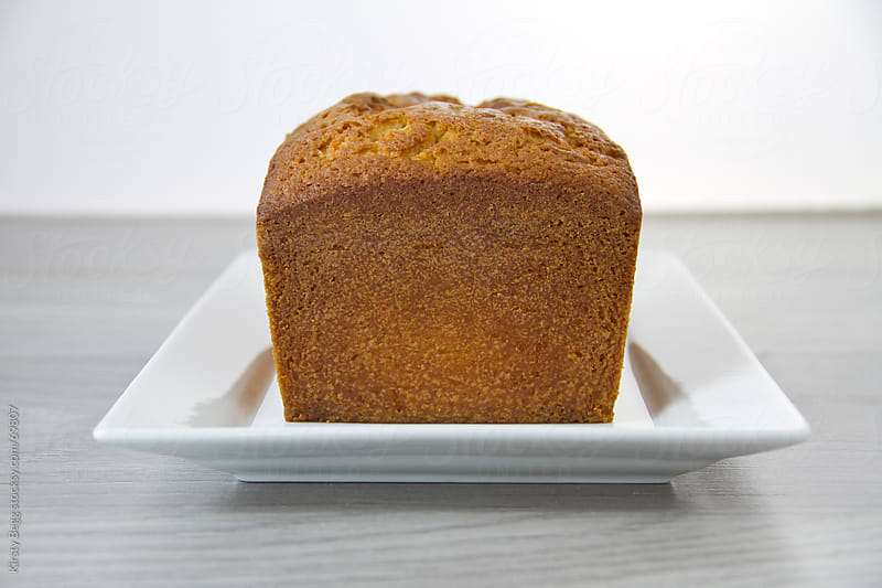 Unglazed lemon loaf cake by Kirsty Begg for Stocksy United