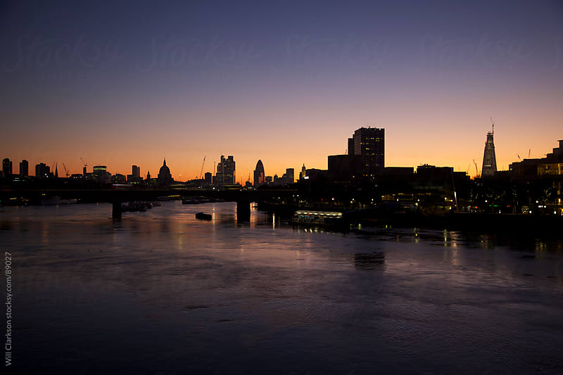 London skyline at dawn by Will Clarkson for Stocksy United
