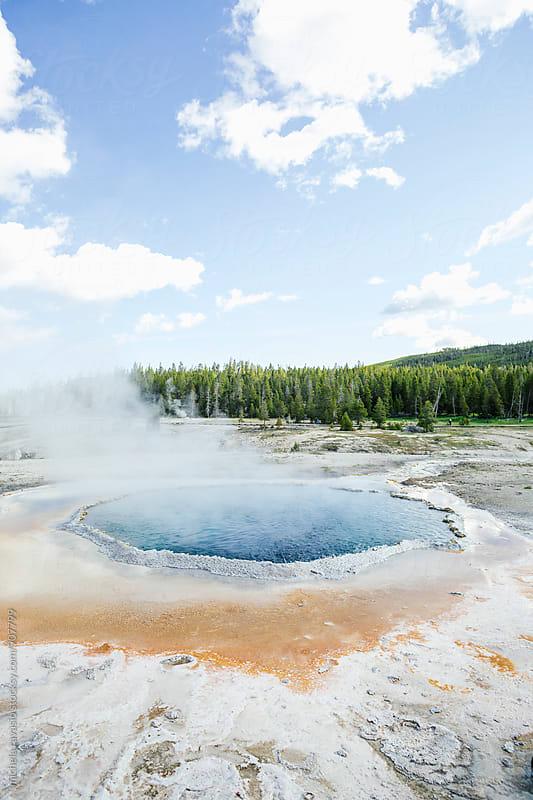 View of hot spring water in Yellowstone National Park by michela ravasio for Stocksy United