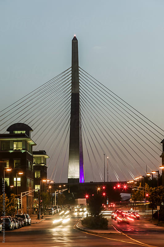 Night Falls on Boston by Raymond Forbes LLC for Stocksy United