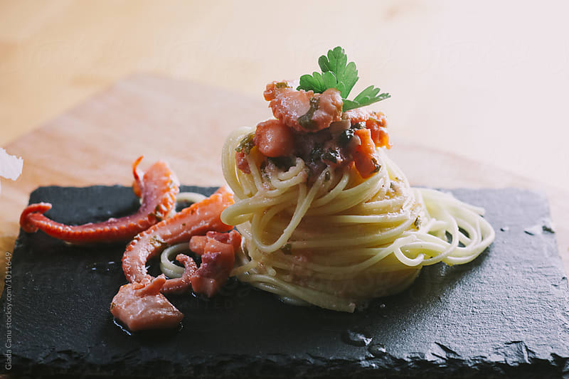 Octopus pasta by Giada Canu for Stocksy United