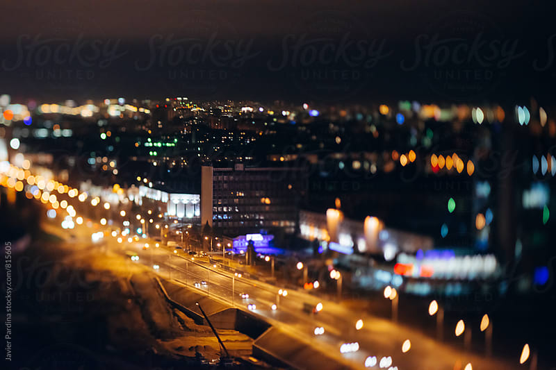 night Minsk city from a height by Javier Pardina for Stocksy United