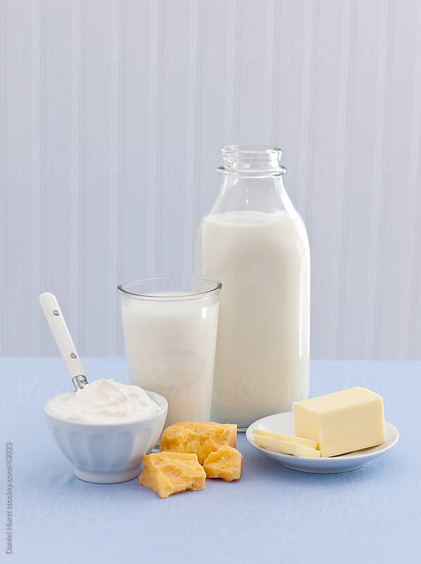 Dairy products still life by Daniel Hurst for Stocksy United