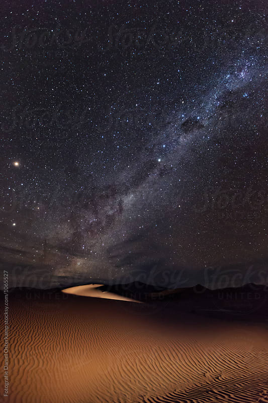Milky Way over Namib Dunes, Namibia, Africa by Fotografie Daniel Osterkamp for Stocksy United
