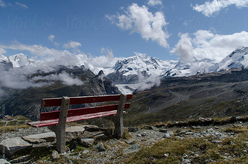 Bench with a view by Neil Warburton for Stocksy United