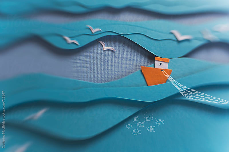 Fishing the deep blue sea... by Catherine MacBride for Stocksy United