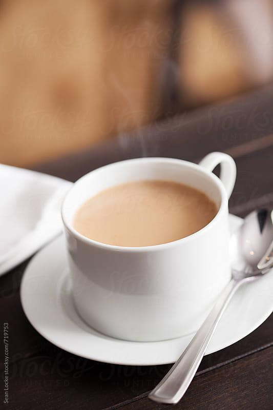 Hot Chai Drink With No Foam In White Mug by Sean Locke for Stocksy United