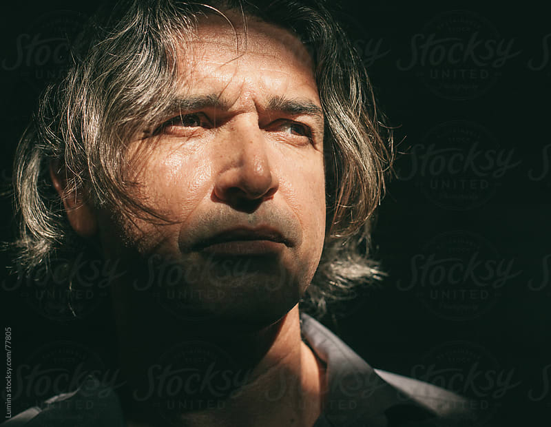 Portrait of a Serious Caucasian Man by Lumina for Stocksy United