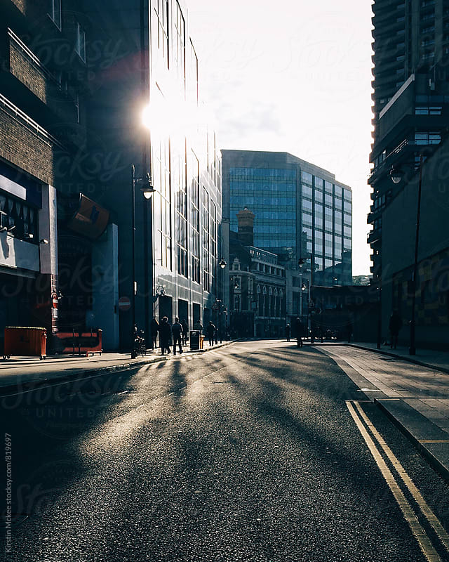 Shadows and light in the City, London by Kirstin Mckee for Stocksy United