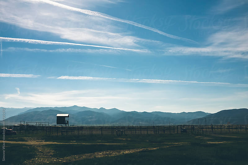 American ranch in Sierra Nevada by Simone Becchetti for Stocksy United