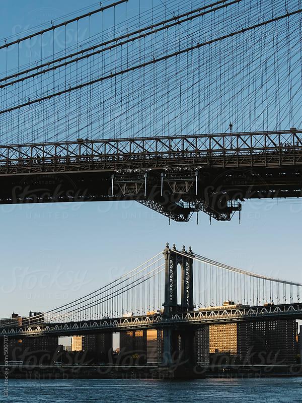 Manhattan and Brooklyn bridge by GIC for Stocksy United