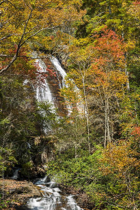 Anna Ruby Falls in Autumn by Adam Nixon for Stocksy United