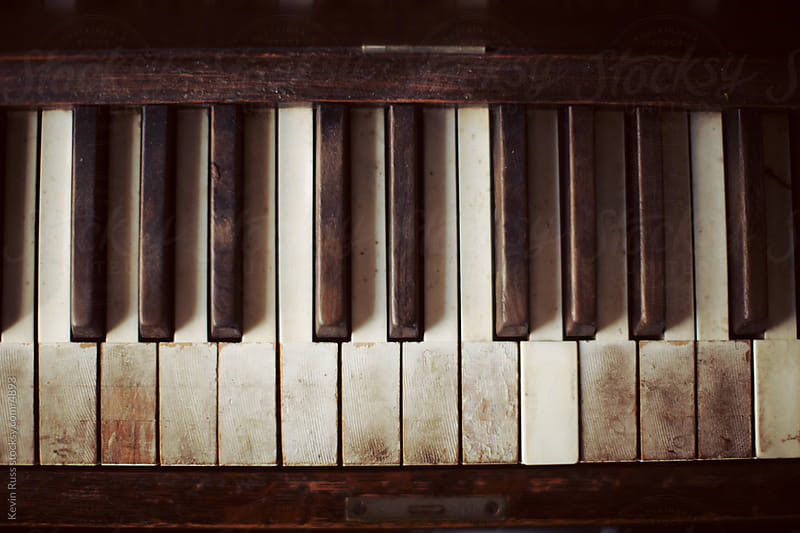 Old Piano Keys by Kevin Russ for Stocksy United