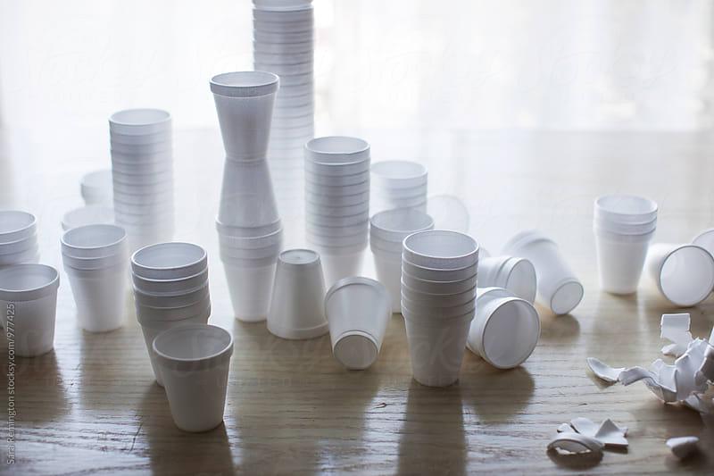 Stacks of Styrofoam by Sara Remington for Stocksy United