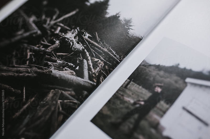 details of photographs printed in book by Nicole Mason for Stocksy United