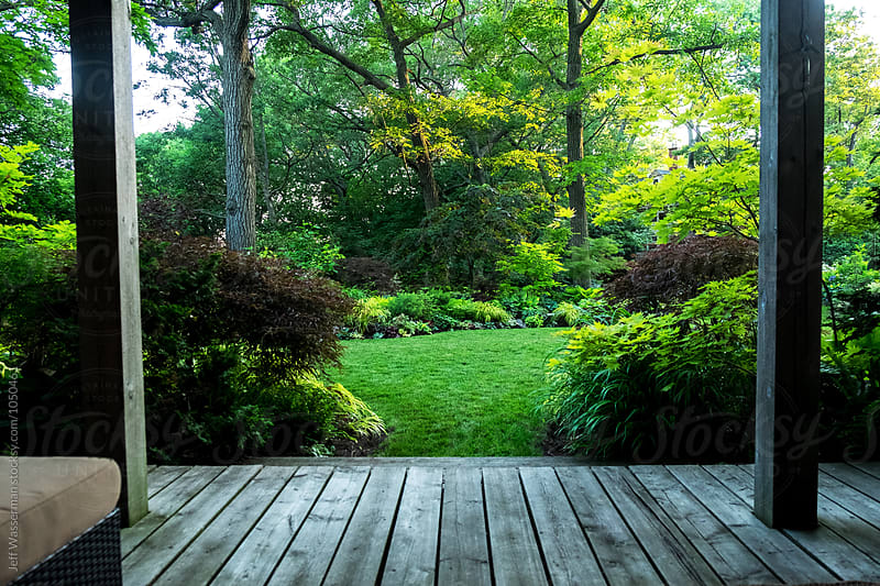 Beautiful Garden and Lawn by Jeff Wasserman for Stocksy United