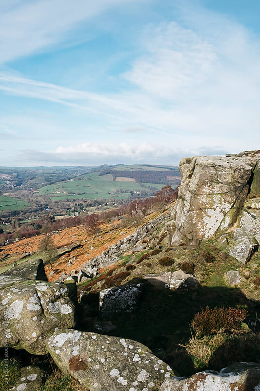 View from Curbar Edge. Derbyshire, UK. by Liam Grant for Stocksy United