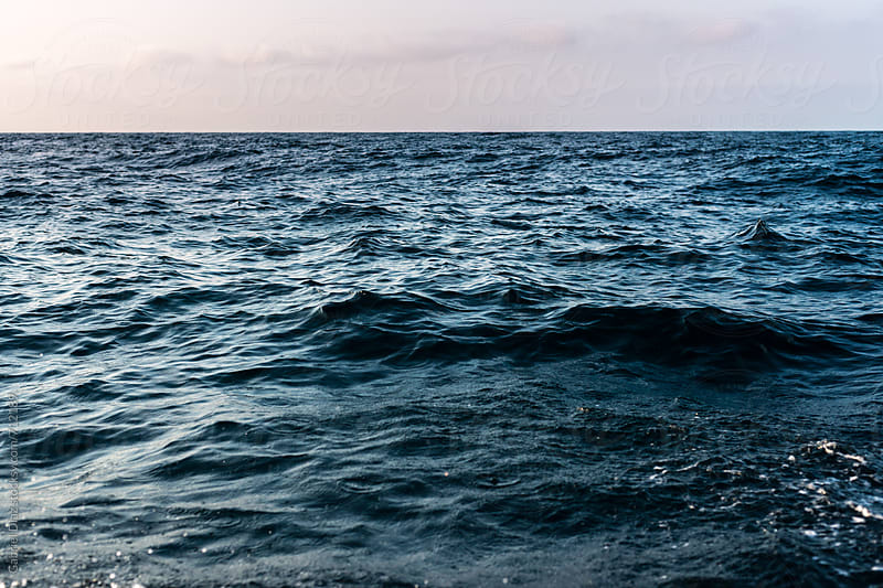 Beautiful sunset at sea by Gabriel Diaz for Stocksy United