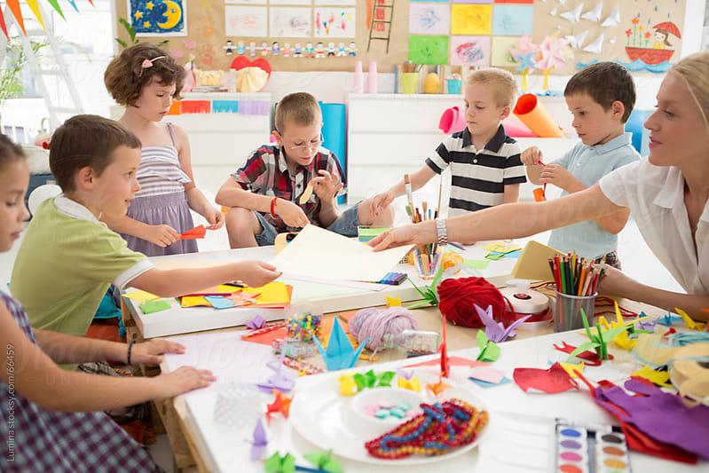 Creative Kidergarten Art Workshop by Lumina for Stocksy United
