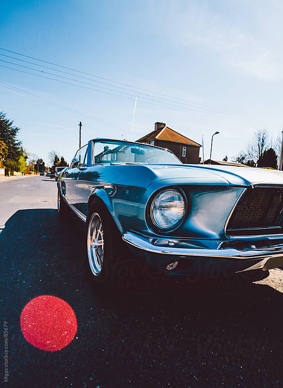 Classic vintage American muscle car by kkgas for Stocksy United
