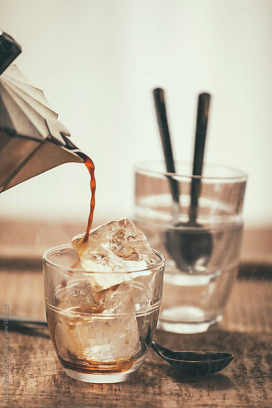 Iced coffee.  by BONNINSTUDIO for Stocksy United