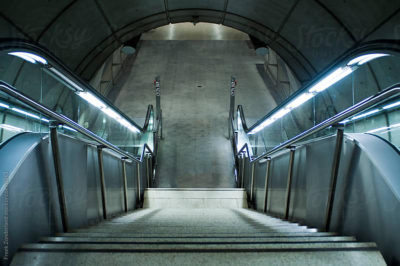 Metro Escalator by Freek Zonderland for Stocksy United