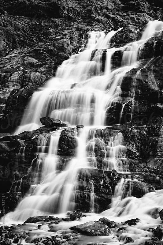 Gauli waterfalls by Peter Wey for Stocksy United
