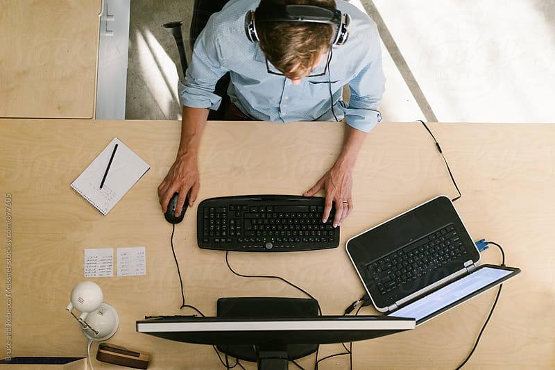 Developer Working by Bruce Meissner for Stocksy United