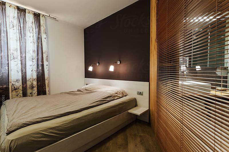 Luxury Bedroom Interior with Bathroom by Borislav Zhuykov for Stocksy United