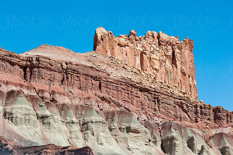 castle rock in capitol reef by Peter Wey for Stocksy United