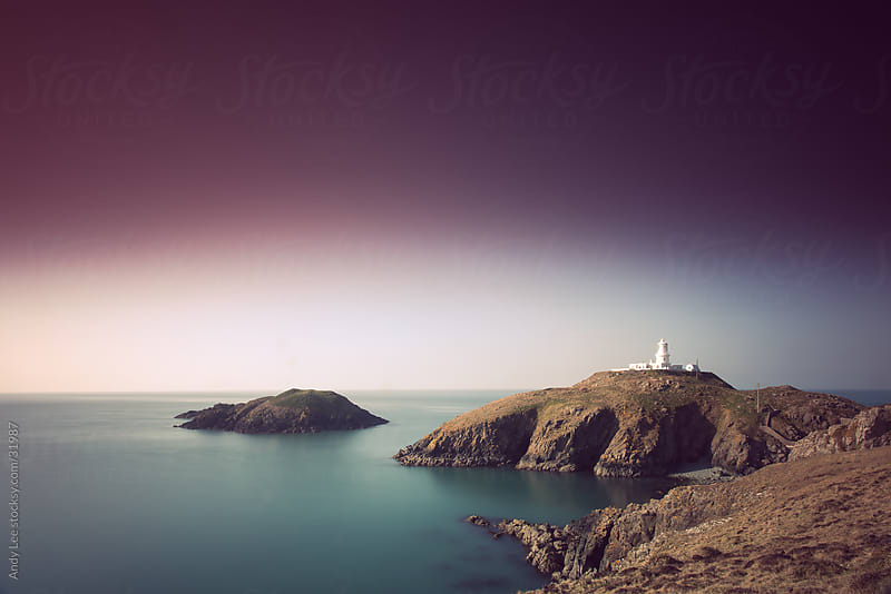 Strumble Head Lighthouse by Andy Lee for Stocksy United