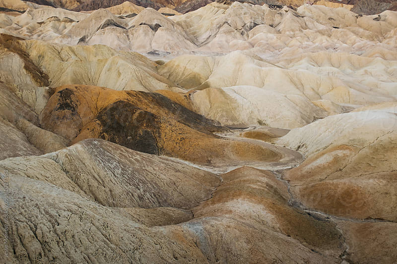 zabriski point landscape hill texture death valley national park usa by Jesse Morrow for Stocksy United