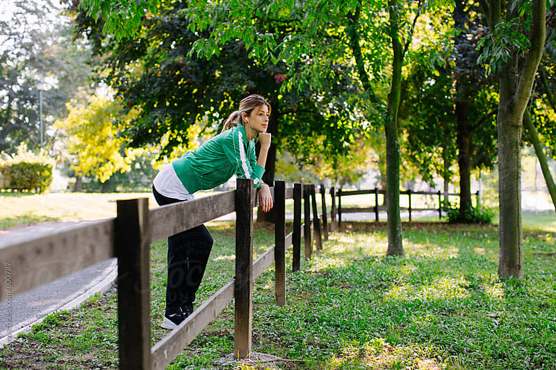 Woman Enjoying Sunny Day in the Park by Mosuno for Stocksy United