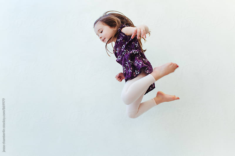 Girl Jumping by jesse chamberlin for Stocksy United