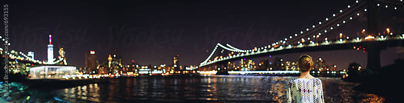 Big dreams. New York by night. by Nikola Bradonjic for Stocksy United
