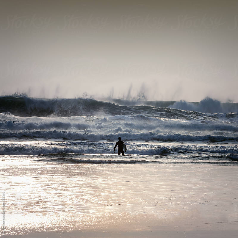 Lone Surfer by Andy Lee for Stocksy United