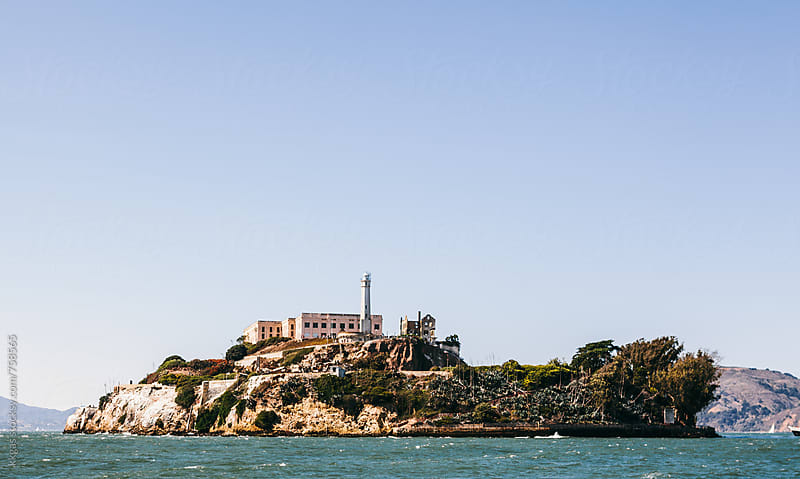 Alcatraz Island from the water. by kkgas for Stocksy United