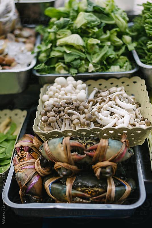 Fresh food at the street market by Aleksandra Jankovic for Stocksy United