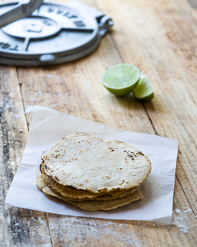 Traditional mexican homemade tortillas by Trent Lanz for Stocksy United