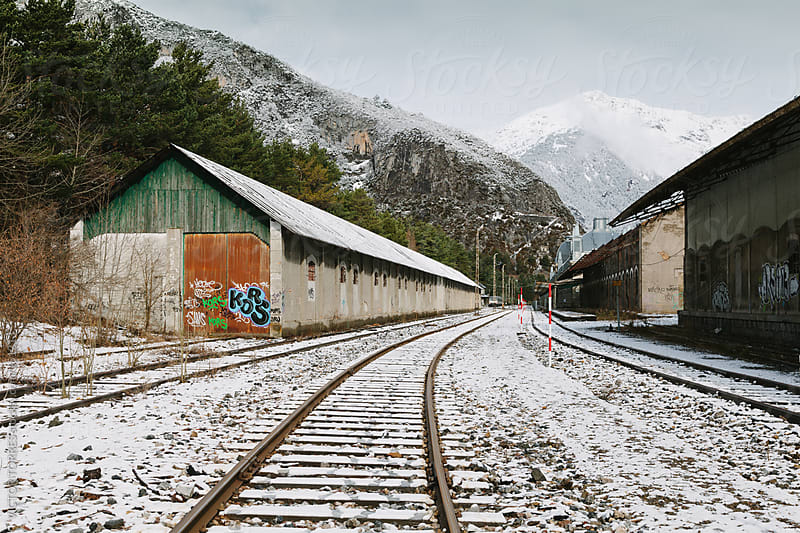 Old Train Station in Canfranc by VICTOR TORRES for Stocksy United