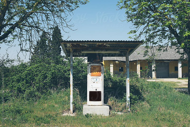 Old Gas Pump by Good Vibrations Images for Stocksy United